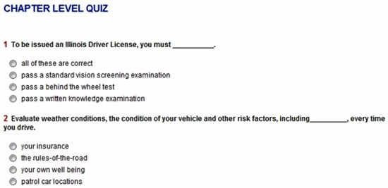 iDriveSafely Quiz