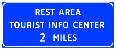 Blue Road Sign