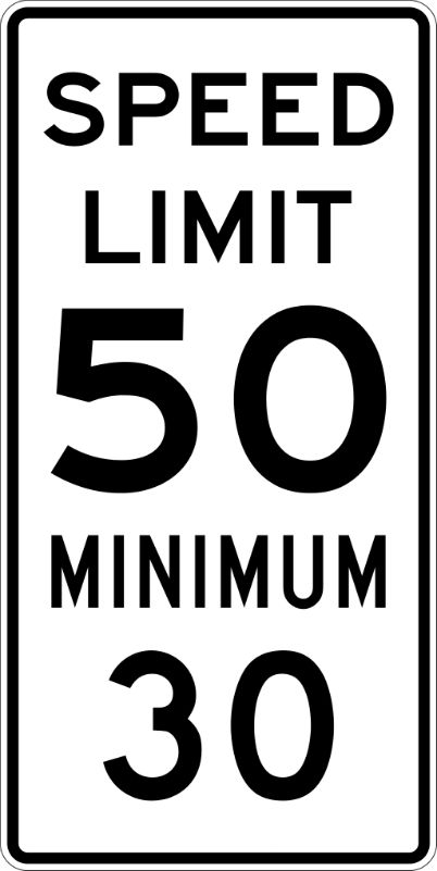 Combination Speed Sign
