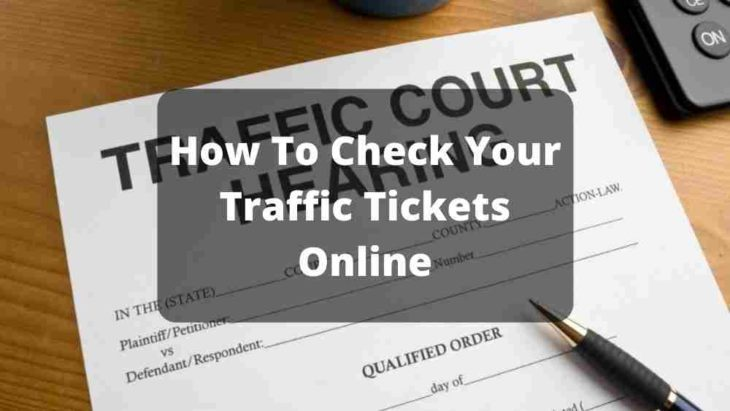 Check Traffic Tickets Online